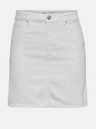 Biela rifľová sukňa ONLY Rose