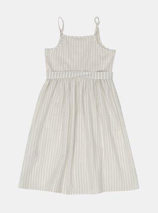 Krémové dievčenské pruhované šaty name it Flavia
