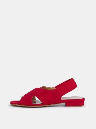 Červené dámske semišové sandále Tamaris