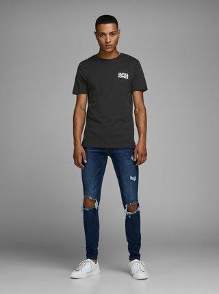 Černé tričko s potiskem Jack & Jones Corp
