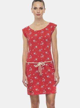 Červené květované šaty Ragwear Tamy