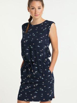 Tmavomodré vzorované šaty Ragwear Mascarpone