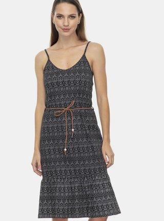 Černé vzorované šaty Ragwear Entie