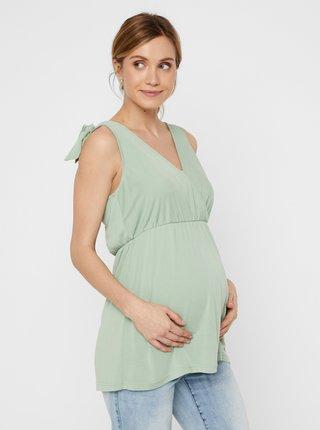 Svetlozelený tehotenský top Mama.licious Skylar