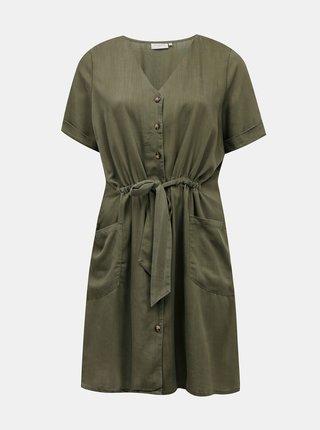 Tmavě zelené šaty ONLY CARMAKOMA Norar