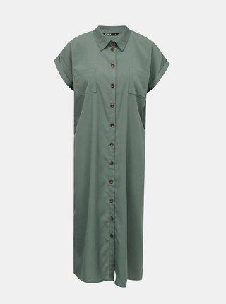 Zelené košeľové šaty ONLY