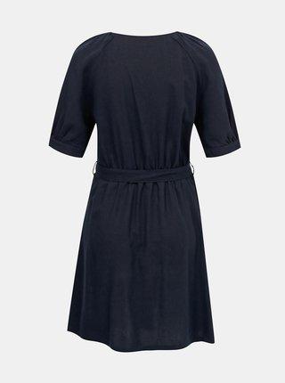 Tmavomodré ľanové šaty VERO MODA Day