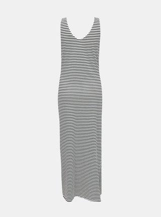 Modro-biele pruhované basic maxišaty ONLY May