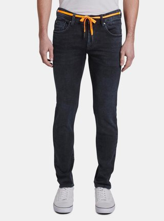 Tmavomodré pánske skinny fit rifle Tom Tailor Denim Culver