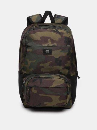 Tmavozelený maskáčový batoh s ľadvinkou 2v1 VANS 26 l