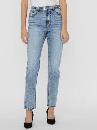 Modré džíny s páskem VERO MODA Joana
