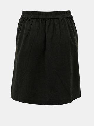 Čierna ľanová sukňa Selected Femme Malvina
