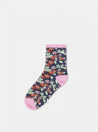 Růžovo-modré květované ponožky VANS