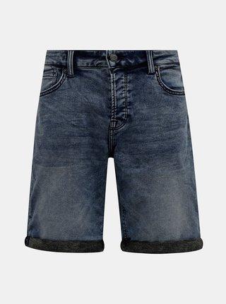 Tmavě modré džínové kraťasy ONLY & SONS