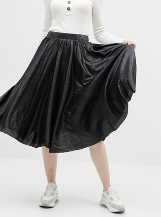 Černá třpytivá sukně VILA Lena