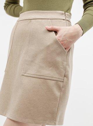 Béžová sukně s kapsami VERO MODA Felicity