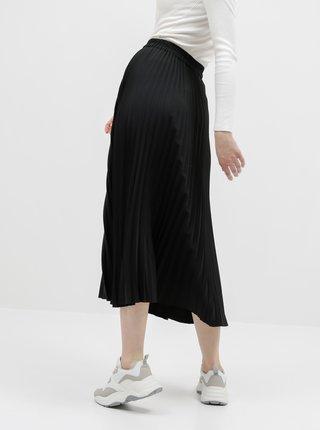 Čierna plisovaná maxi sukňa Selected Femme Alexis