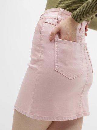 Ružová rifľová sukňa VILA Cassie
