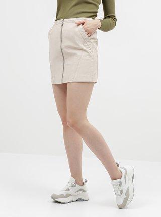 Béžová semišová sukně ONLY Camara