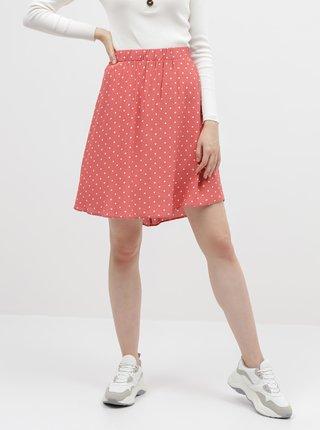 Koralová bodkovaná sukňa VILA Primera