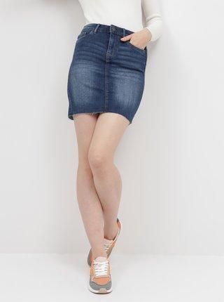 Tmavě modrá džínová sukně VERO MODA Seven