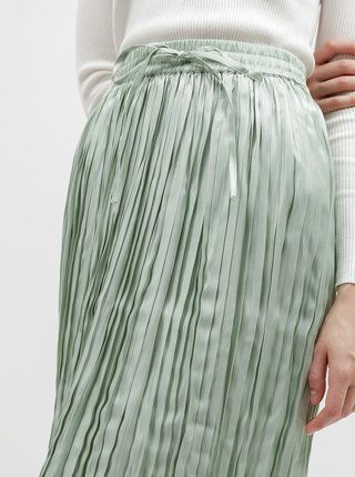 Zelená plisovaná maxi sukně ONLY Liva