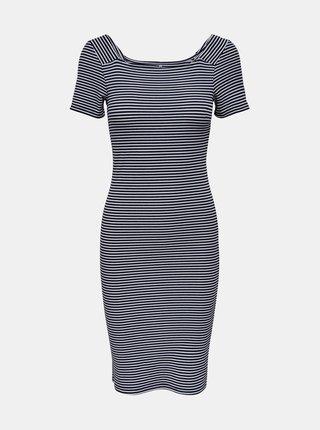 Šedé pruhované basic šaty ONLY Fiona