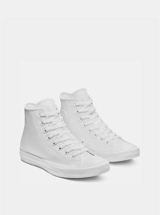 Bílé kožené kotníkové tenisky Converse Chuck Taylor All Star