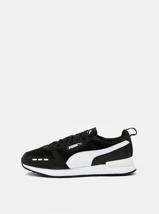 Bielo-čierne pánske tenisky so semišovými detailmi Puma