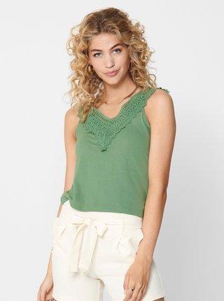 Zelený top s krajkou ONLY Victoria