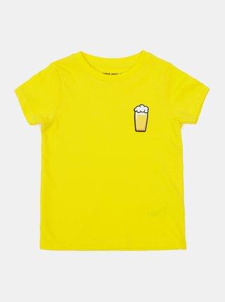 Žlté detské tričko ZOOT Kids Malý pívo