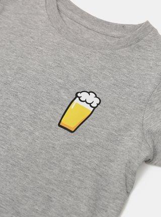 Šedé detské tričko ZOOT Kids Malý pívo