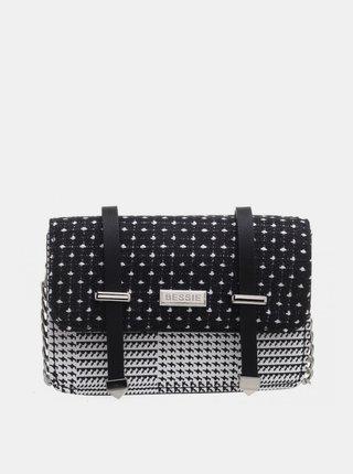 Čierna bodkovaná kabelka Bessie London
