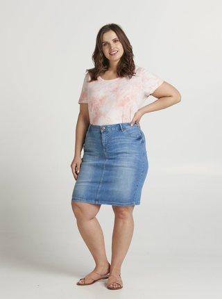 Modrá rifľová sukňa Zizzi