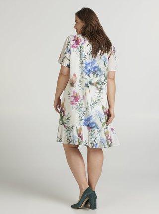 Krémové kvetované šaty Zizzi