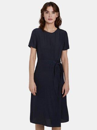Tmavě modré zavinovací šaty Tom Tailor