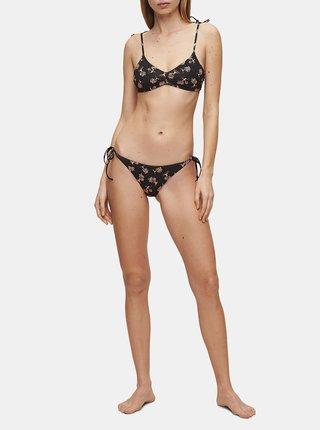Černý dámský vzorovaný spodní díl plavek Calvin Klein Underwear