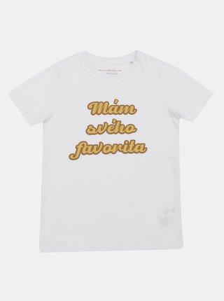 Bílé dětské tričko ZOOT Kids Mám svého favorita