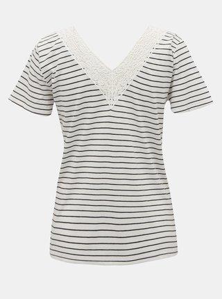Biele pruhované tričko VERO MODA Hela