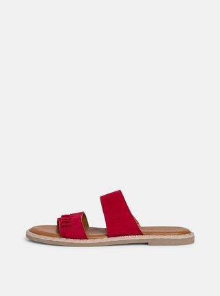 Červené semišové pantofle Tamaris