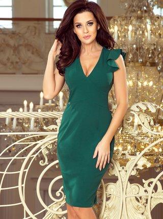 Zelené pouzdrové šaty Numoco