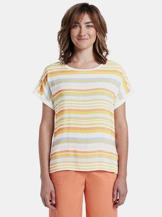 Žlto-biele dámske pruhované tričko Tom Tailor