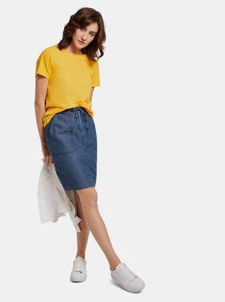 Modrá dámska rifľová sukňa Tom Tailor