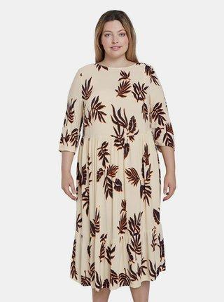 Béžové dámske vzorované šaty My True Me Tom Tailor