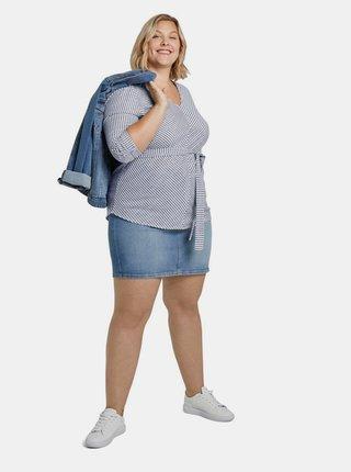 Modrá dámská pruhovaná halenka My True Me Tom Tailor