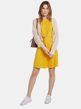 Horčicové dámske šaty Tom Tailor