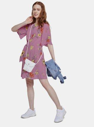 Ružové dámske kvetované šaty Tom Tailor Denim