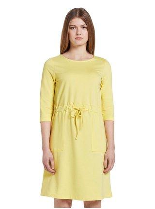 Žlté dámske šaty Tom Tailor Denim