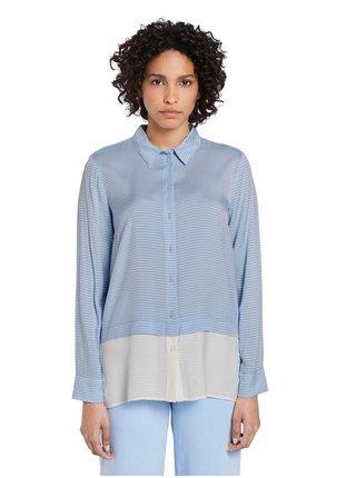 Modrá dámska pruhovaná voľná košeľa Tom Tailor