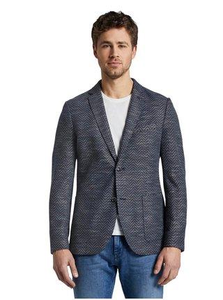 Tmavě modré pánské sako Tom Tailor